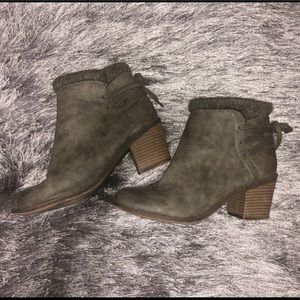 Roxy Faux Fur Lined Heeled Boots